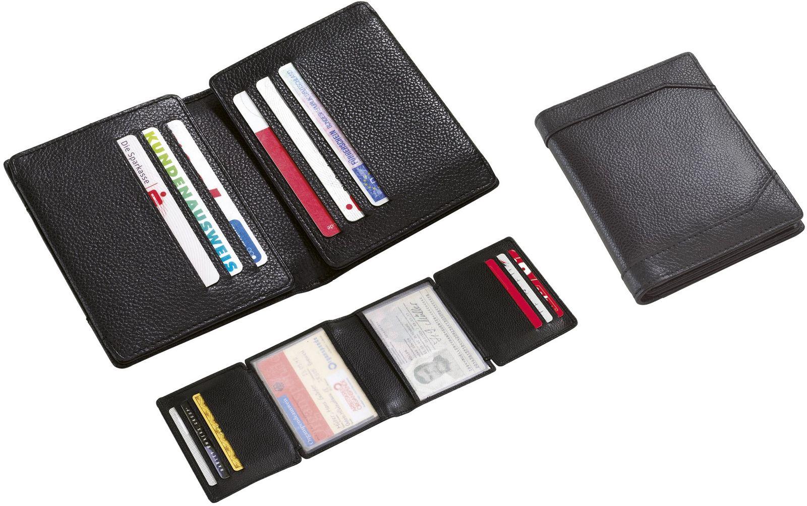 Θήκη για πιστωτικές κάρτες δερμάτινη 11.7x9.3x1.5εκ Next 28636 image