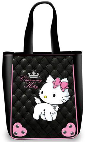 Τσαντα shopping maxi padding charmmy kitty 6811-0881 γυναικειες τσάντες   νεανικες   ώμου χειρός