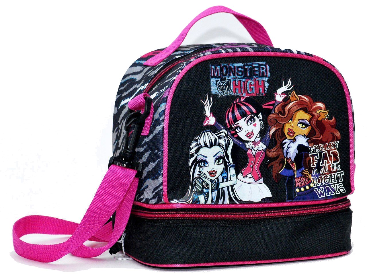 Τσαντακι Φαγητού Obαλ Monster High GIM 349-80220 σχολικες τσαντες   τσάντες νηπιαγωγείου   για κοριτσάκια