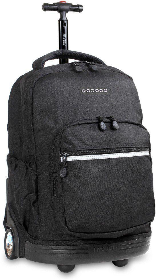 Jworld Τσαντα Τρολει Sunrise GIM 395-00001 52-Black σχολικες τσαντες   τσάντες δημοτικού   για αγορια