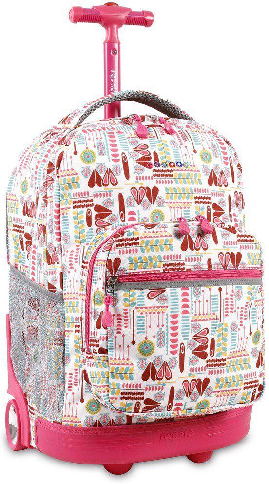 Τσαντα Τρολει Sunrise JWORLD 395-00001 86-Heart Factory σχολικες τσαντες   εφηβικές τσάντες   τσάντες πλάτης