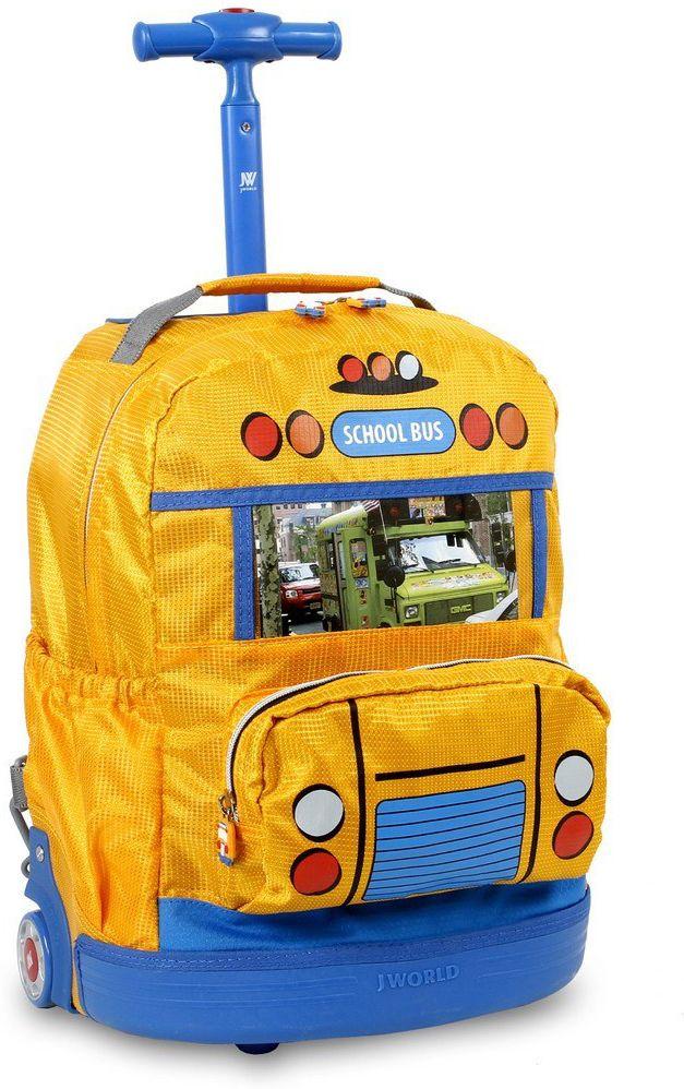 Τσαντα Νηπιαγωγειου Τρολει School Bus JWORLD 395-00018 98-Yellow σχολικες τσαντες   τσάντες νηπιαγωγείου   για αγοράκια