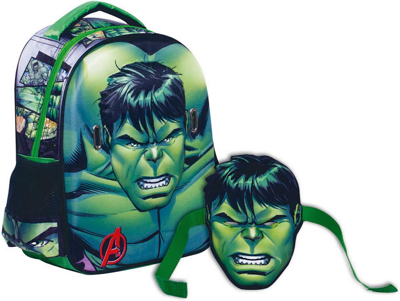 5a570efe576 Τσαντα Νηπιαγωγειου Avengers Hulk + Μασκα GIM 337-21054 HULK