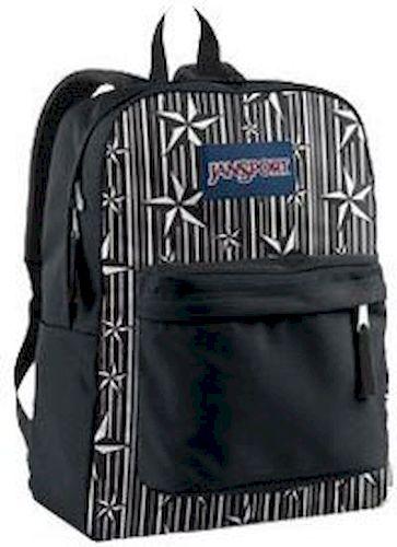 Jansport Superbreak Daypack - Black/White Stripped Star σακίδια   τσάντες   τσάντες πλάτης