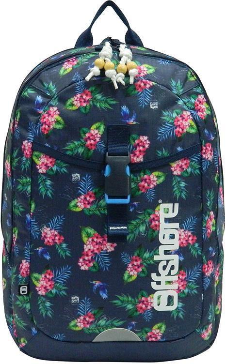 Τσάντα πλάτης δημοτικού λουλούδια μπλε με 2 θήκες 49x33x12 εκ. Bagtrotter 30438 σχολικες τσαντες   τσάντες δημοτικού   για κοριτσια