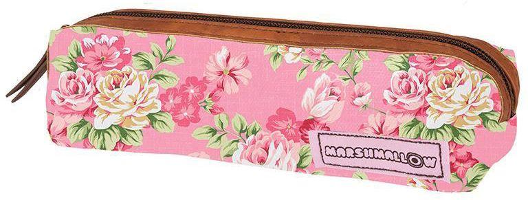 c3f0996d001 Κασετίνα ροζ λουλούδια 20x6 εκ. Marshmallow 28756