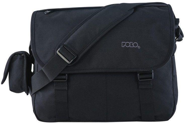 Τσάντα Briefcase μαυρο Polo 9-07-718-02 σακίδια   τσάντες   τσάντες ταχυδρόμου