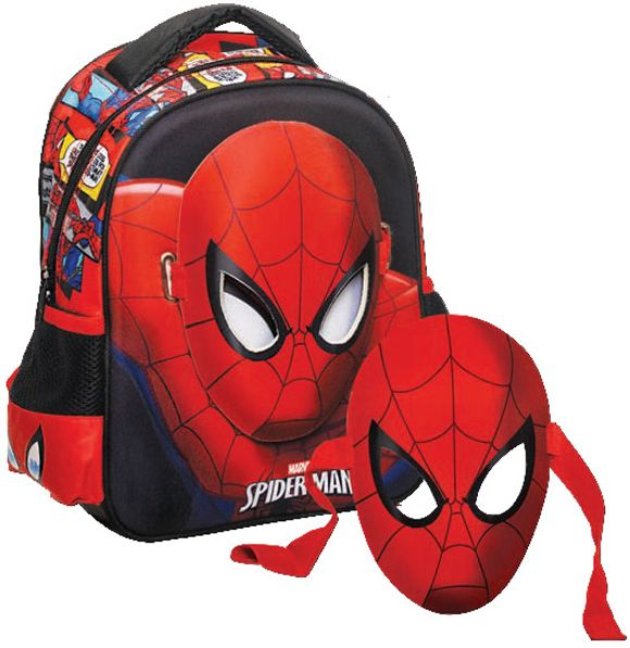 7d30d828a4 Τσαντα Νηπιαγωγειου Spiderman με Μάσκα GIM 337-66054