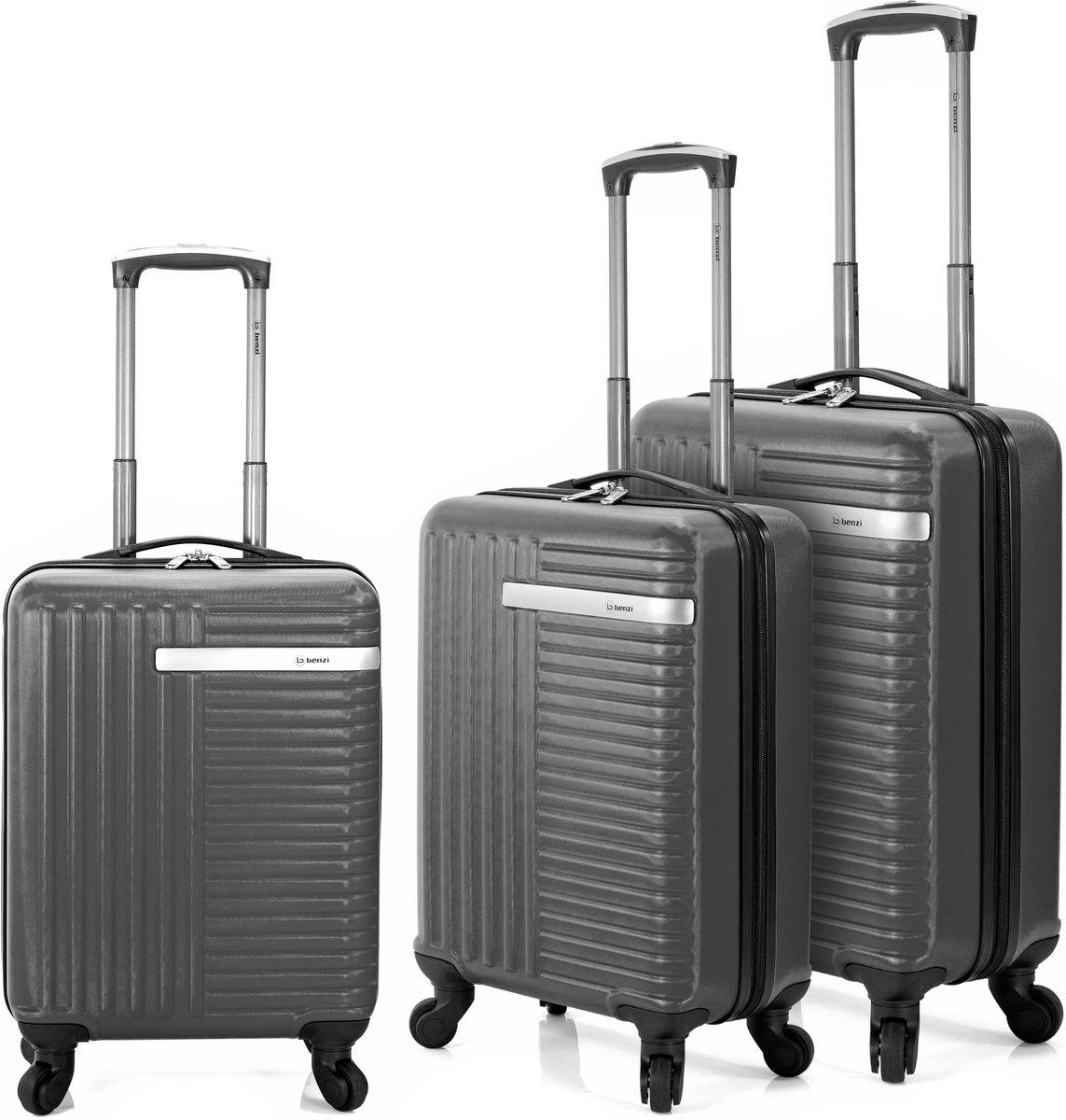 610d3b1044 Σετ Βαλιτσες 55-60-70 με 4 Ροδακια Benzi BZ5161 Γκρι