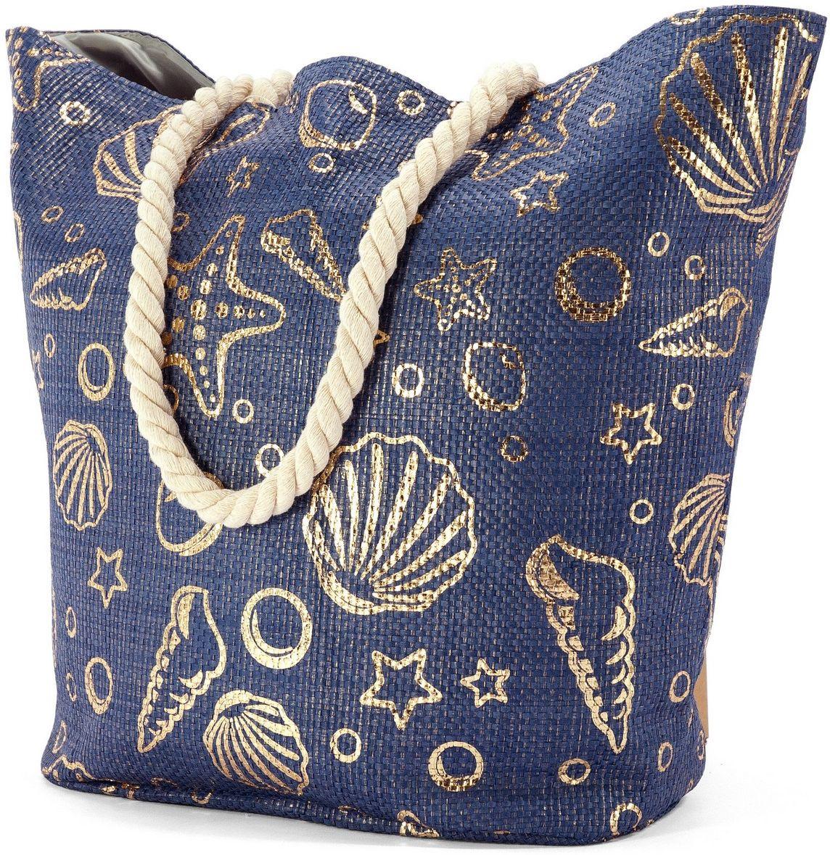 Τσαντα Θαλασσης Benzi BZ5019 Μπλε γυναίκα   τσάντες παραλίας