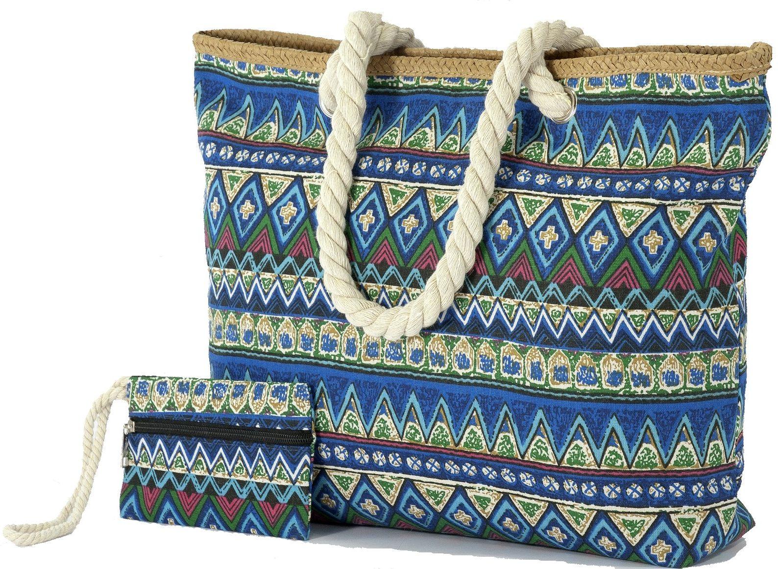 Τσαντα Θαλασσης με Πορτοφολακι Benzi BZ5082 Μπλε Ρουα γυναίκα   τσάντες παραλίας
