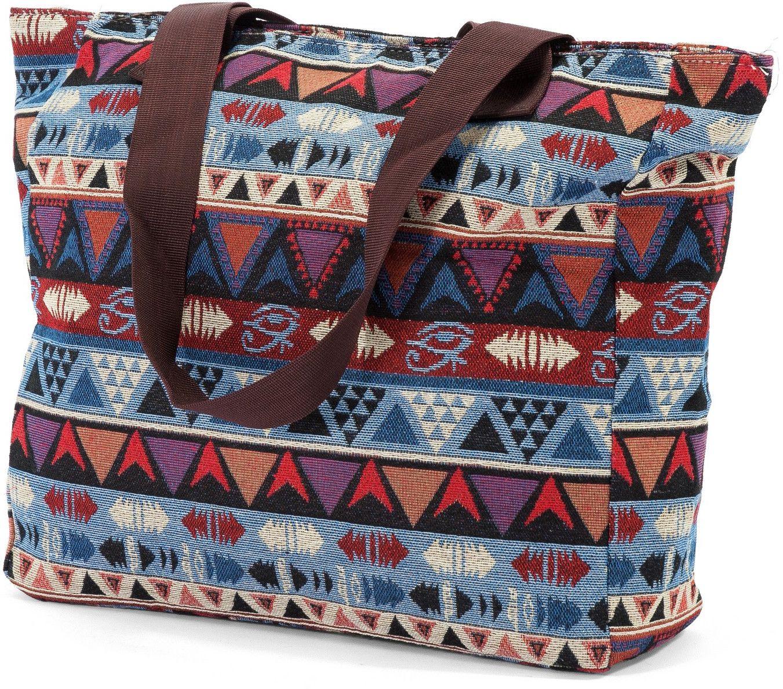 Τσαντα Θαλασσης με Γεωμετρικα Σχεδια Benzi BZ5065-3 γυναίκα   τσάντες παραλίας
