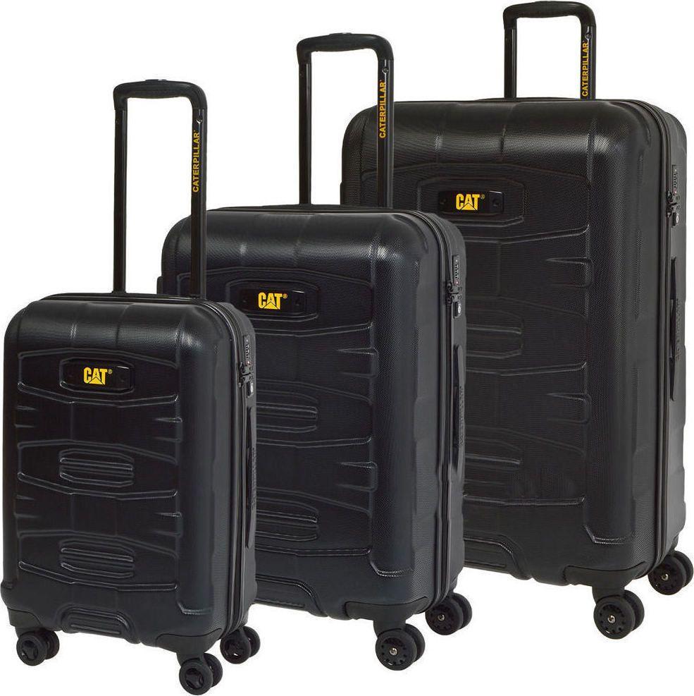 Σετ Βαλιτσες 50-60-70 με 4 Ροδες Caterpillar 83383 Μαυρο ειδη ταξιδιου   βαλίτσες   βαλίτσες   σετ βαλίτσες ταξιδίου