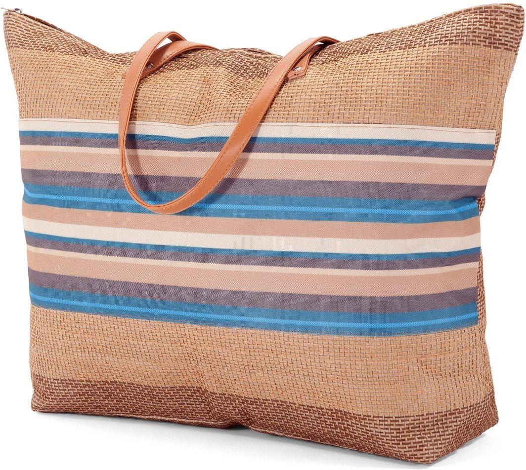 Τσαντα Παραλιας Benzi BZ5177 Καφε γυναίκα   τσάντες παραλίας