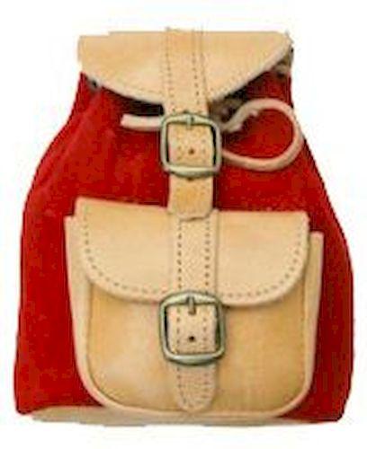 Δερμάτινη Τσάντα Πλάτης 12x16 εκ. Kouros 642 Κόκκινο trash category