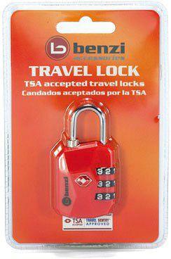 Λουκετο Tsa Με Συνδυασμο Benzi TSA004 Κοκκινο ειδη ταξιδιου   βαλίτσες   αξεσουαρ ταξιδιου   ασφάλεια αποσκευών