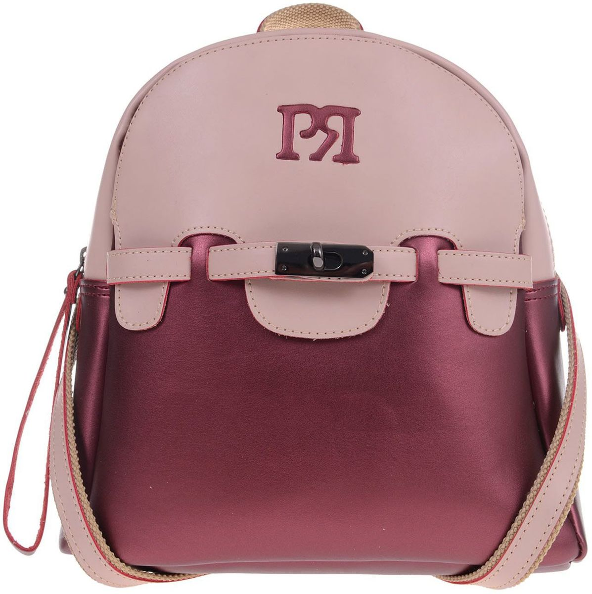 Γυναικείo σακίδιο πλάτης Pierro Accessories 90446EC-15 Μπορντω γυναικείες τσάντες   τσάντες πλάτης