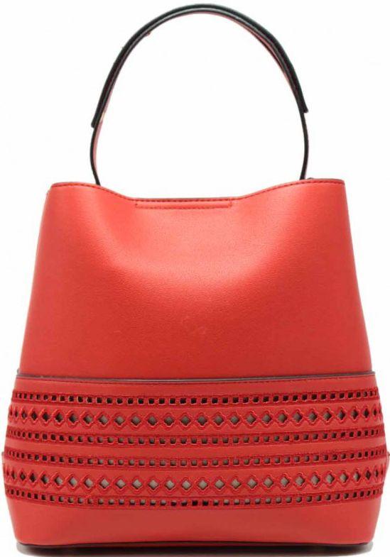 Τσάντα Χειρός με Αποσπώμενη Θήκη Tom & Eva 17E-1903 Κόκκινη γυναίκα   τσάντες ώμου   χειρός