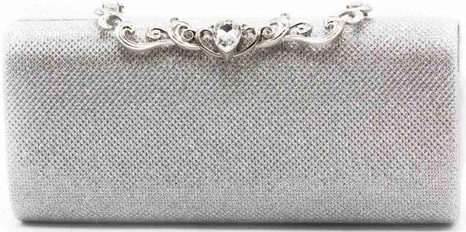 Τσαντακι Φακελος Tom & Eva 17E-1663 Ασημί γυναικείες τσάντες   φάκελοι clutch bags