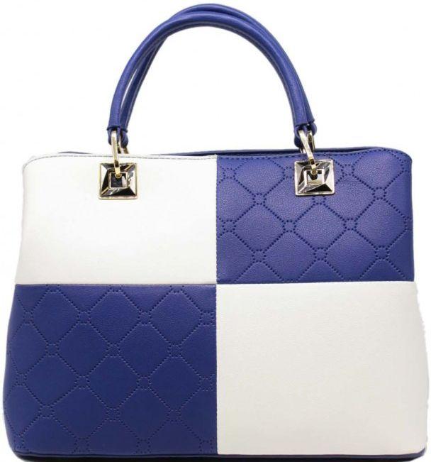 Τσάντα Χειρός Tom & Eva 6583 Μπλε/Λευκη