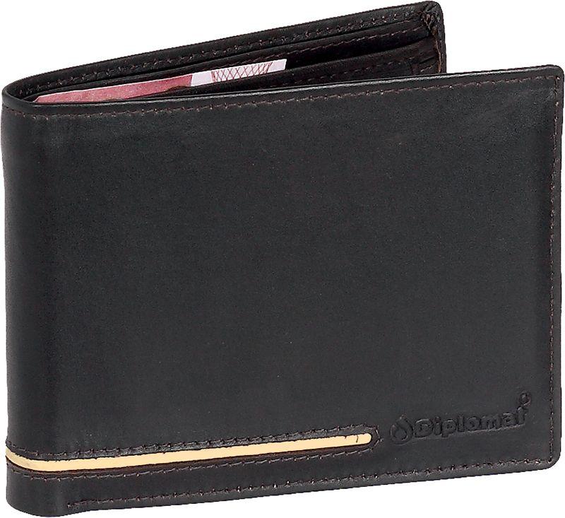 Οριζόντιο ανδρικό πορτοφόλι MN 200 Diplomat Μαυρο πορτοφολια   αξεσουάρ   πορτοφολια   ανδρικά