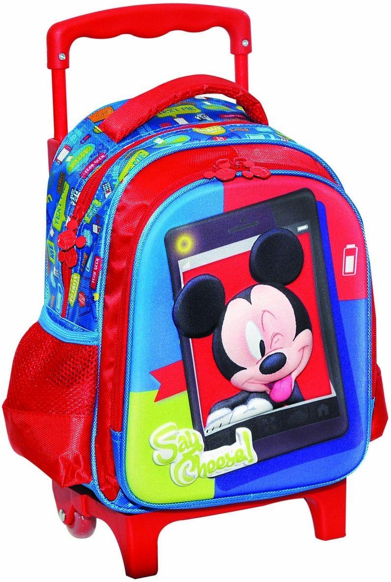 Τσαντα Νηπιαγωγειου Trolley Mickey Gim 340-73072 σχολικες τσαντες   τσάντες νηπιαγωγείου   για αγοράκια