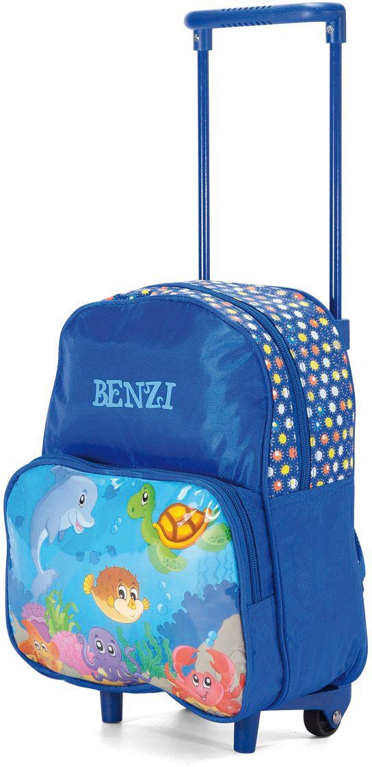 Τσάντα Πλάτης Νηπιαγωγείου Τρόλεϊ Benzi BZ4245 Μπλε παιδί   τσάντες νηπιαγωγείου   για αγοράκια