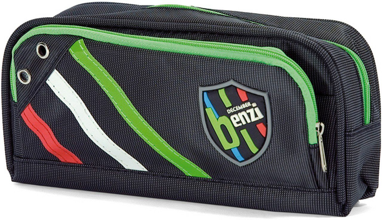 Κασετίνα Βαρελάκι Benzi BZ3911 Μαυρο σχολικες τσαντες   τσάντες δημοτικού   κασετίνες