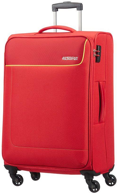 Βαλιτσα Μεσαια 66εκ. με 4 Ροδες Funshine American Tourister 75508-2553 Κόκκινο ειδη ταξιδιου   βαλίτσες   βαλίτσες   βαλίτσες μεσαίου μεγέθους