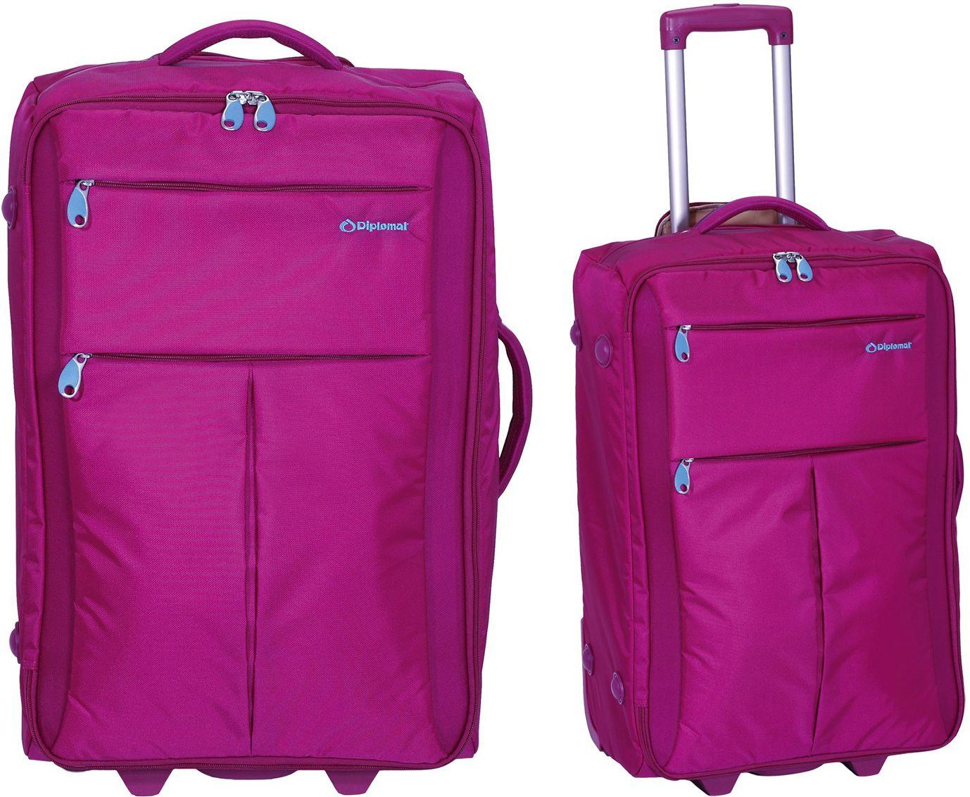 Σετ Βαλίτσες 2 τεμαχίων τρόλεϊ Diplomat ZC 8004 51-71 Φουξια ειδη ταξιδιου   βαλίτσες   βαλίτσες   σετ βαλίτσες ταξιδίου