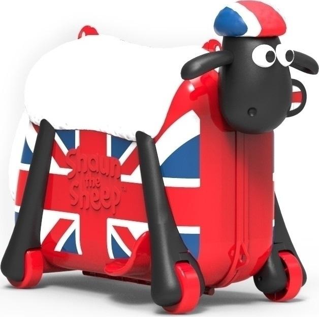 Παιδική Βαλίτσα-Περπατούρα Shaun the Sheep British SC0022 Κόκκινο ειδη ταξιδιου   βαλίτσες   βαλίτσες   παιδικές βαλίτσες