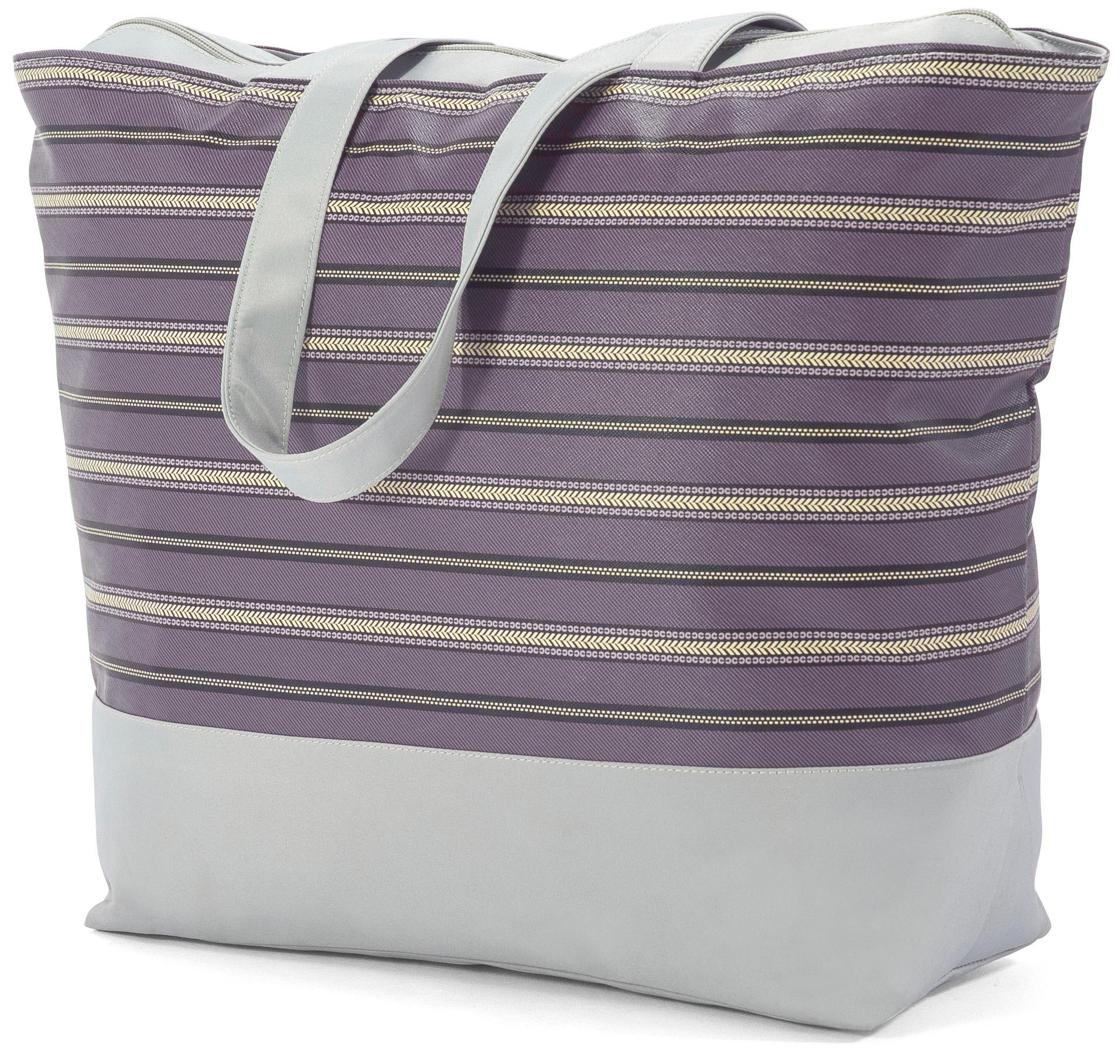 Τσάντα Θαλάσσης Benzi BZ5003 Γκρι/Μωβ γυναίκα   τσάντες παραλίας