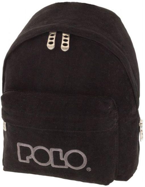 Σακίδιο Mini VELVET POLO 9-07-149-02 Μαύρο σακίδια   τσάντες   τσάντες πλάτης