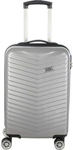 Βαλίτσα 36lt με 4 Ροδες POLO 9-09-046-12 Ασημί ειδη ταξιδιου   βαλίτσες   βαλίτσες   βαλίτσες μεσαίου μεγέθους