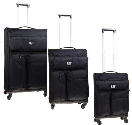 Σετ Βαλίτσες με 4 Ρόδες Cube-Combat-Visiflash Caterpillar 83401 Μαύρο ειδη ταξιδιου   βαλίτσες   βαλίτσες   σετ βαλίτσες ταξιδίου