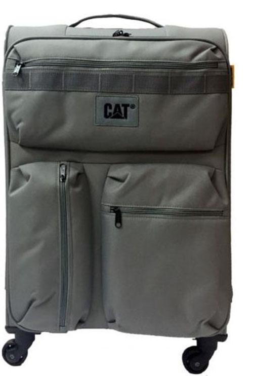 Βαλίτσα Τρόλευ 70 εκ. με 4 Ρόδες Cube-Combat-Visiflash Caterpillar 83401 Γκρι ειδη ταξιδιου   βαλίτσες   βαλίτσες   βαλίτσες μεγάλες