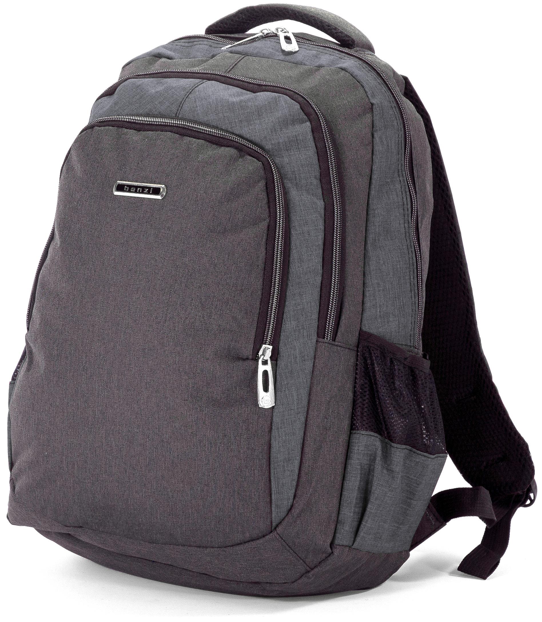 Σακίδιο Πλάτης 44εκ Benzi BZ5074 Μαύρο/Γκρι σακίδια   τσάντες   τσάντες πλάτης