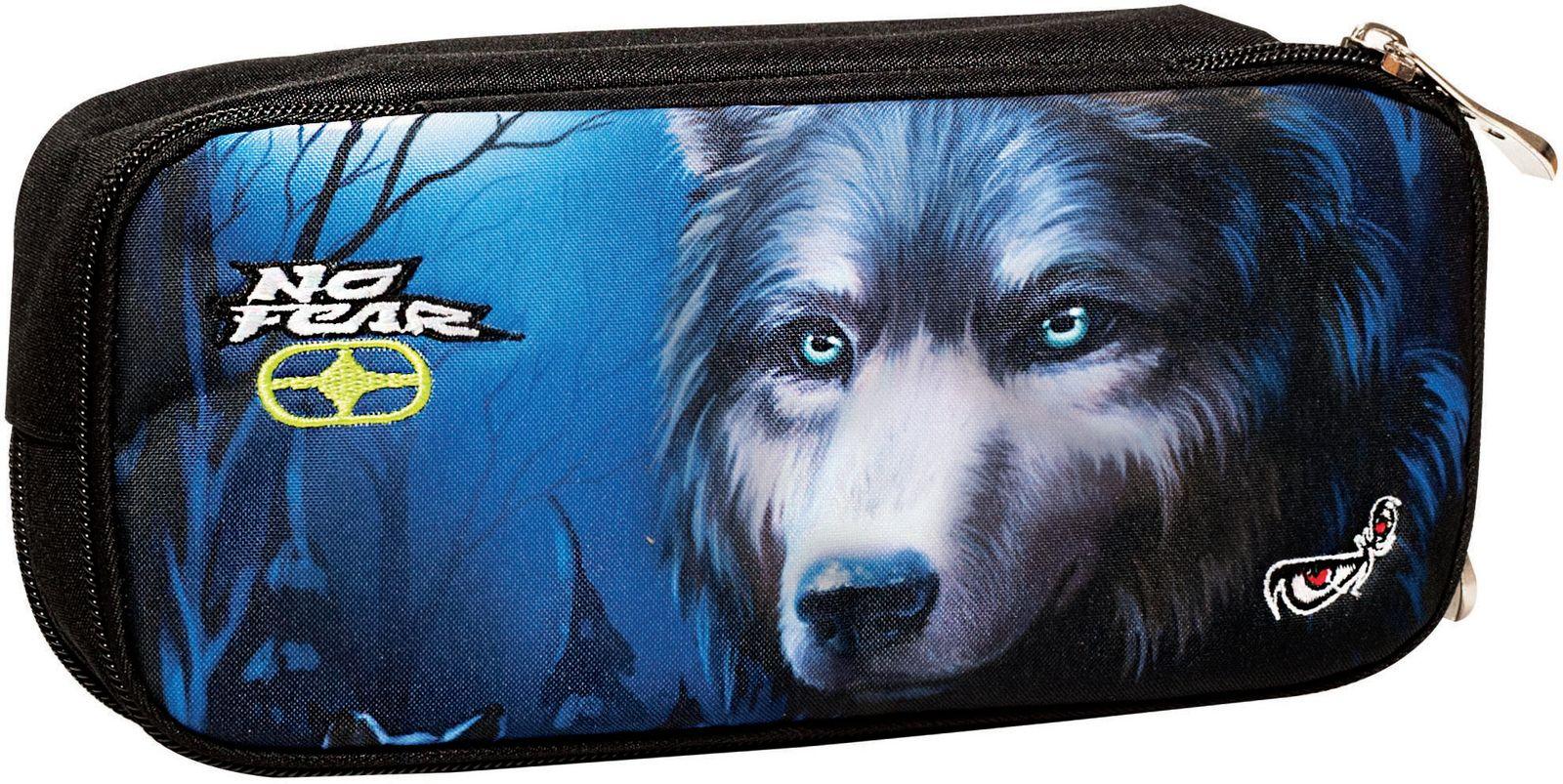 Κασετίνα Βαρελάκι No Fear Dark Wolfs BMU 347-21141 σχολικες τσαντες   τσάντες δημοτικού   κασετίνες