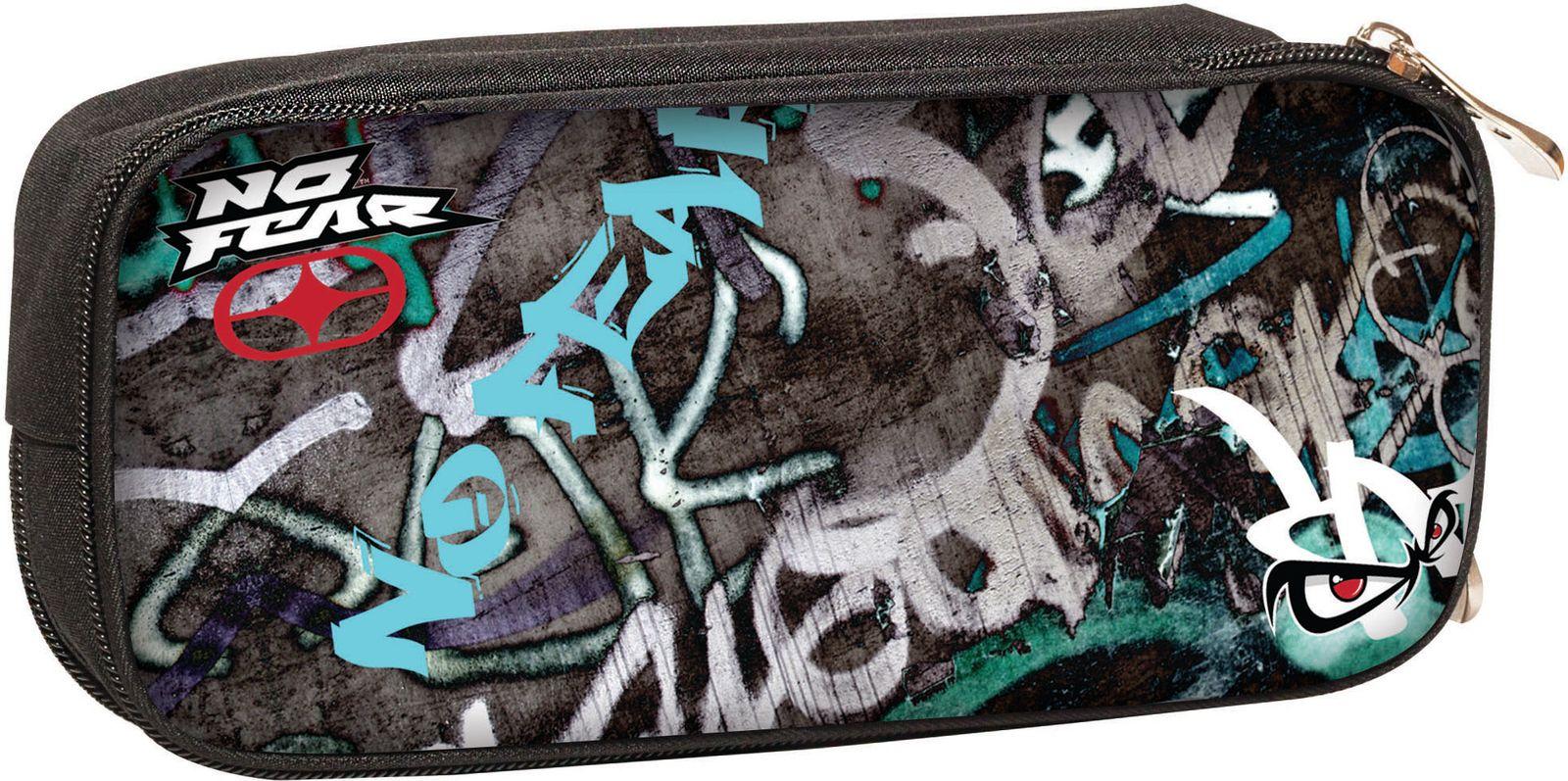 Κασετίνα Βαρελάκι No Fear Street Graffiti BMU 347-41141 σχολικες τσαντες   τσάντες δημοτικού   κασετίνες