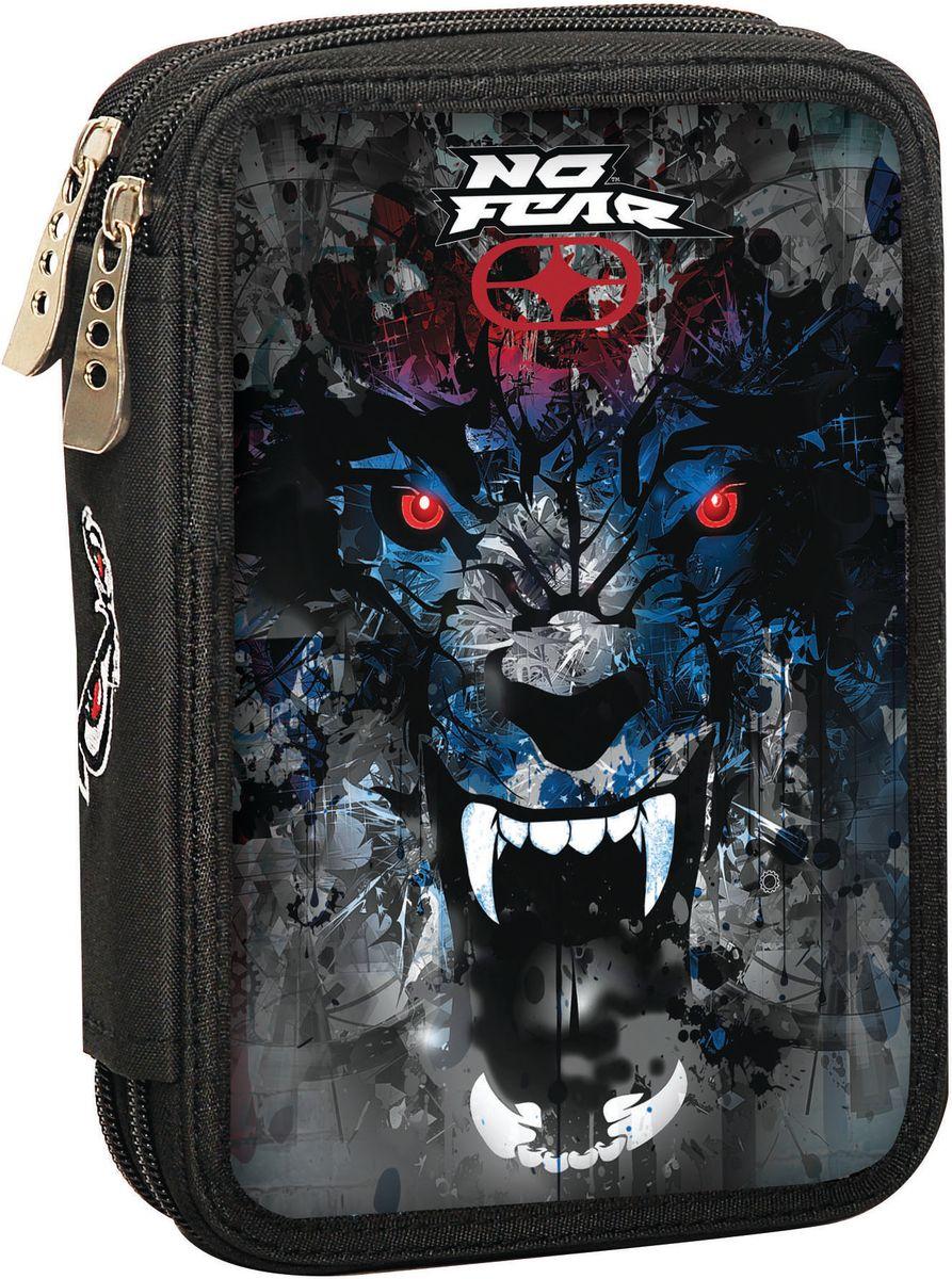 Κασετίνα Διπλή Γεμάτη No Fear Digital Wolf BMU 347-46100 σχολικες τσαντες   τσάντες δημοτικού   κασετίνες