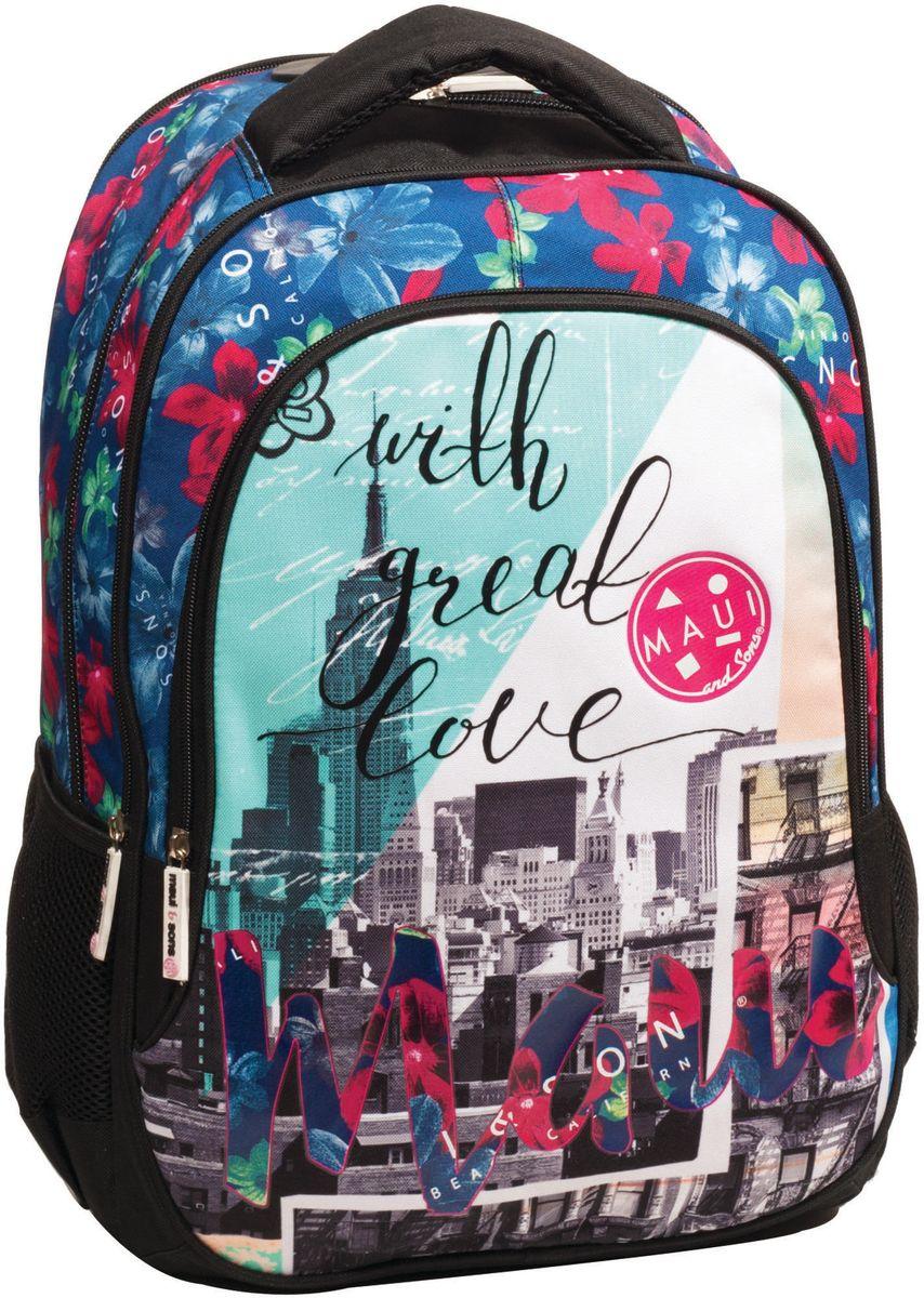 Τσάντα Δημοτικού MAUI New York BMU 339-62031 σχολικες τσαντες   τσάντες δημοτικού   για κοριτσια