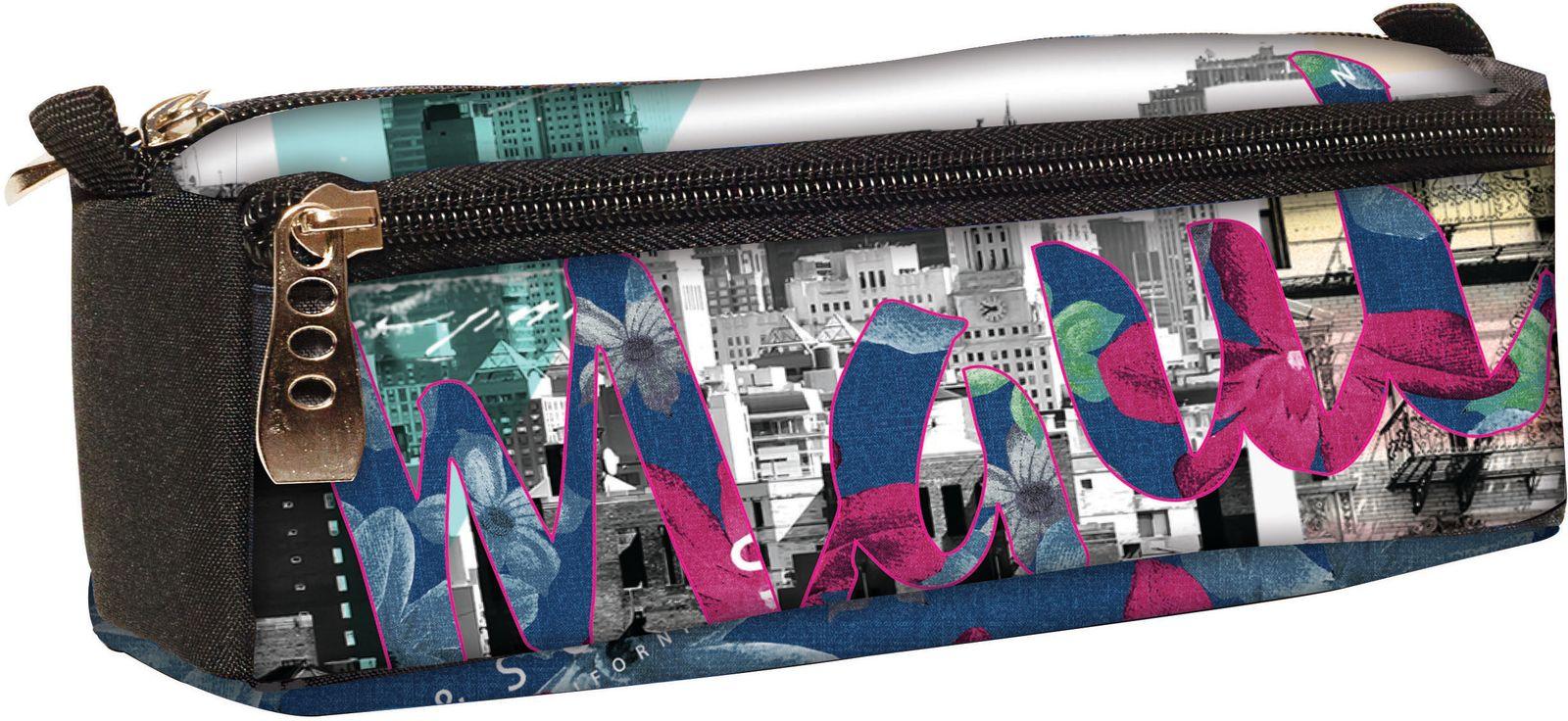 Κασετίνα Βαρελάκι MAUI New York BMU 339-62140 σχολικες τσαντες   τσάντες δημοτικού   κασετίνες