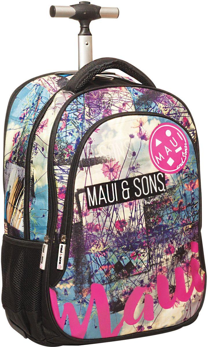 Τσάντα Δημοτικού Trolley MAUI Floral Beach BMU 339-83074 σχολικες τσαντες   τσάντες δημοτικού   για κοριτσια