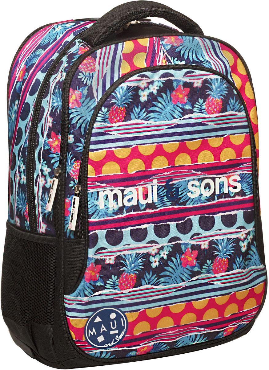 Τσάντα Δημοτικού MAUI Polka BMU 339-89031 σχολικες τσαντες   τσάντες δημοτικού   για κοριτσια
