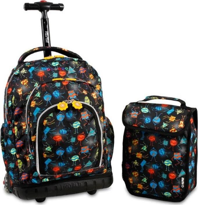 Σετ Σχολικη Τσαντα Τρολει+Τσαντακι Lollipop JWORLD 395-00016 88 Party Mobs παιδί   τσάντες δημοτικού   για κοριτσια