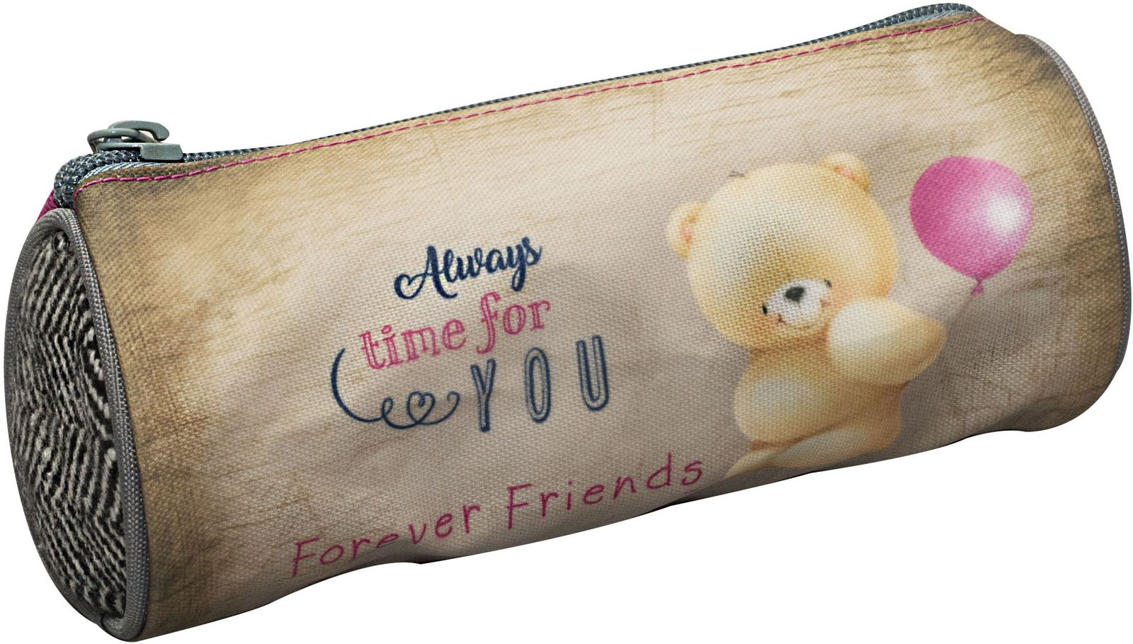 5ef94d0451 Κασετίνα Βαρελάκι Forever Friends Tweed BMU 333-40140