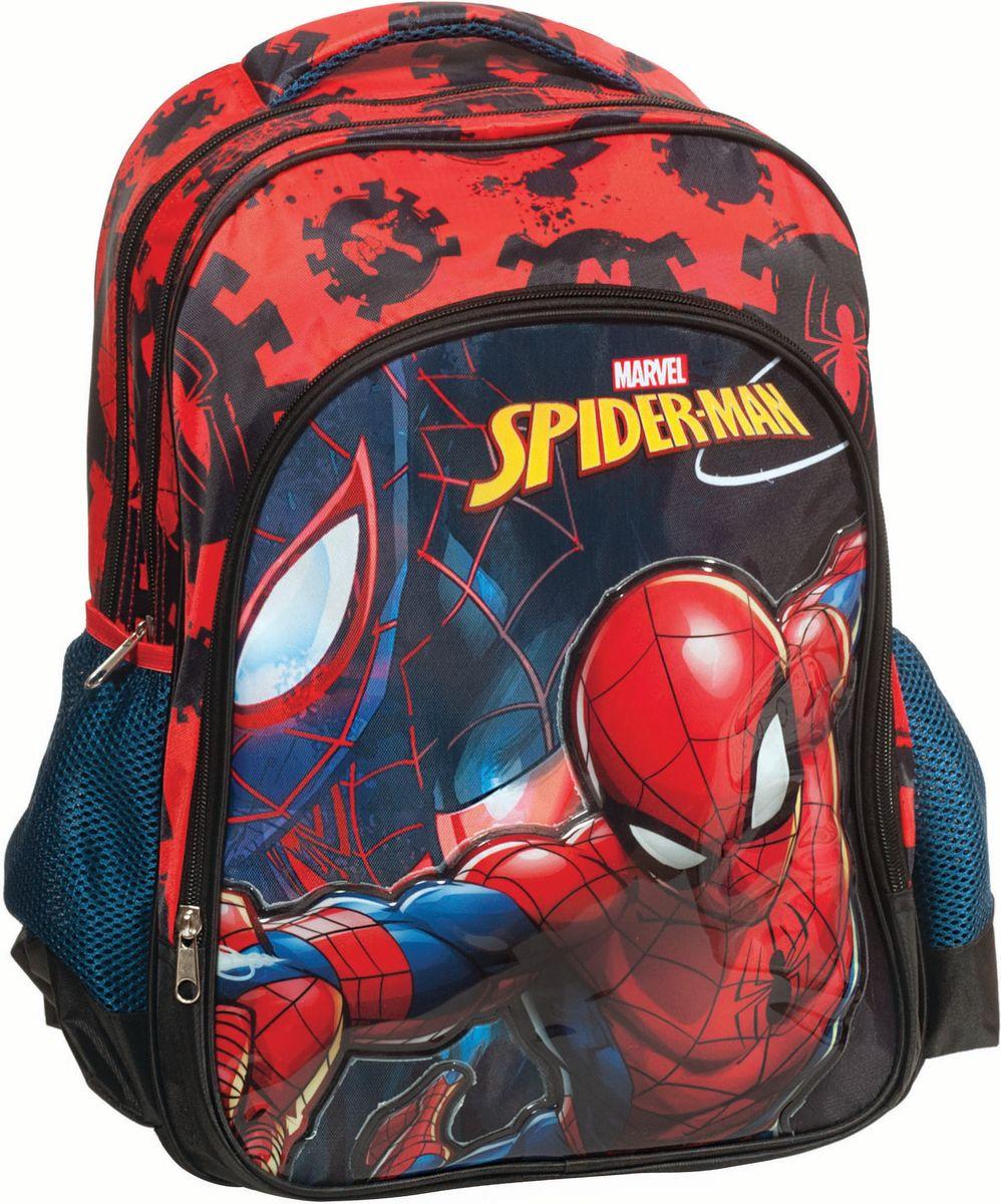 7efcaf5d110 Τσάντα Δημοτικού Spiderman Black Gim 337-70031
