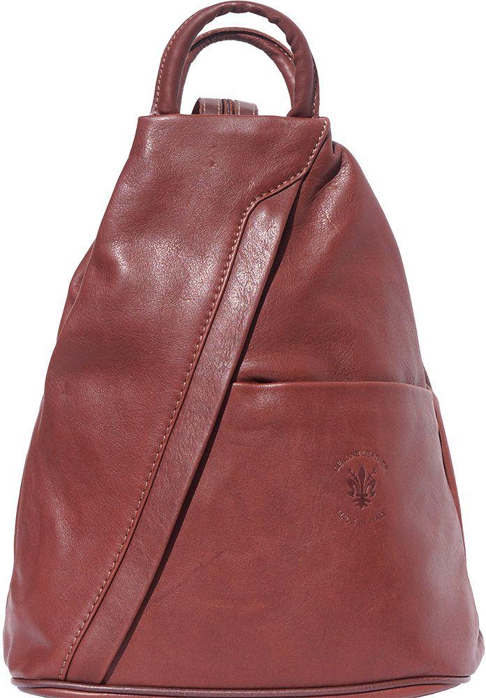 Γυναικειο Δερματινο Backpack Vanna Firenze Leather 2061 Καφε γυναίκα   τσάντες πλάτης