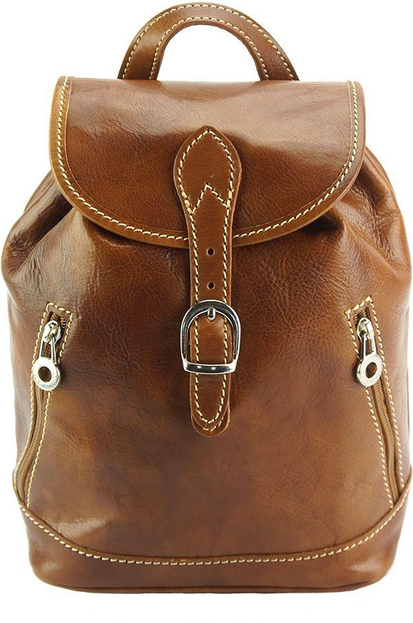 Δερμάτινη Τσάντα Πλάτης Luminosa Firenze Leather 6559 Μπεζ
