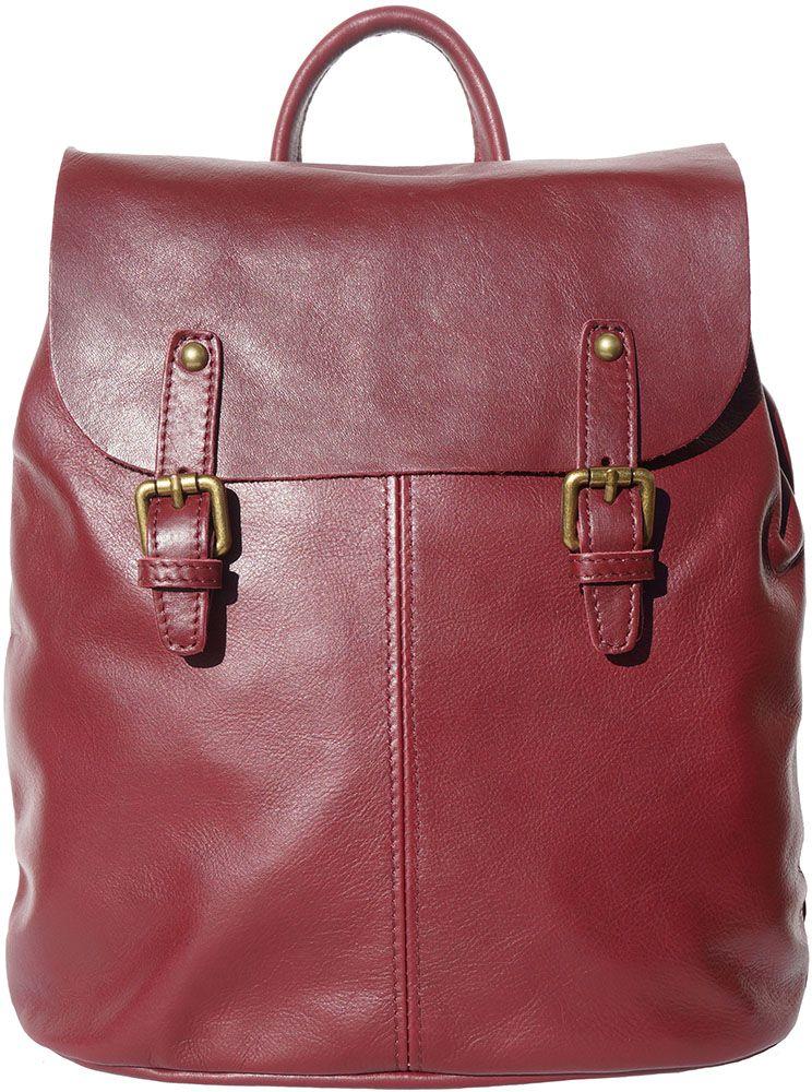 Δερματινη Τσαντα Πλατης Vara Firenze Leather 3010 Μπορντο γυναίκα   τσάντες πλάτης